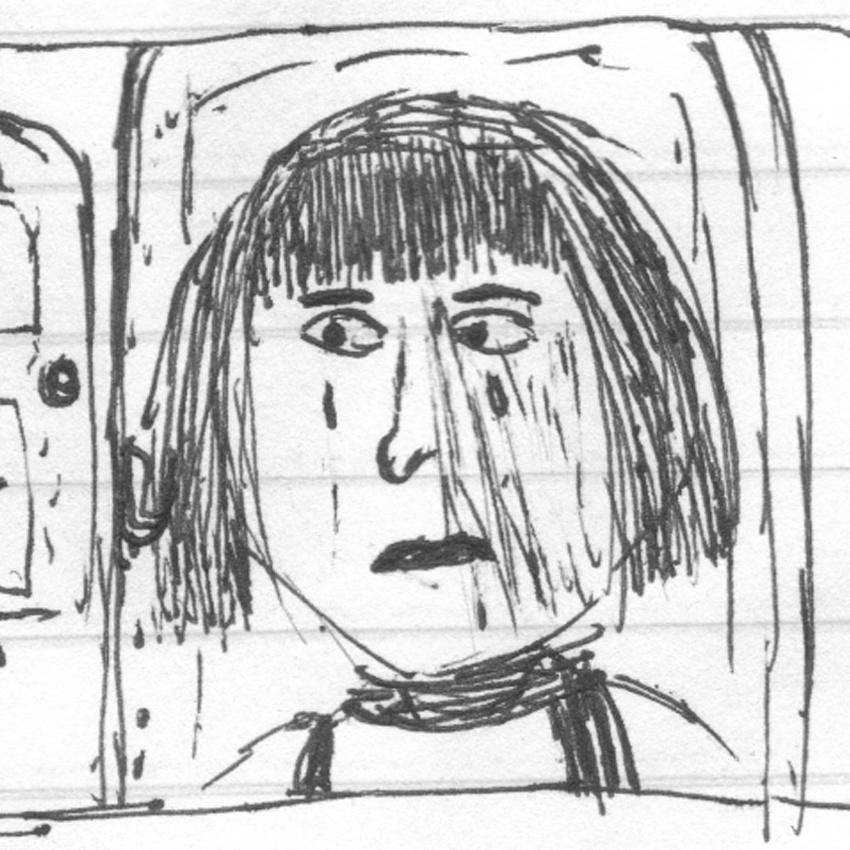 Elina at the door