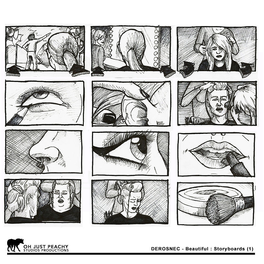 DEROSNEC - Beautiful: Storyboards (pg 1)