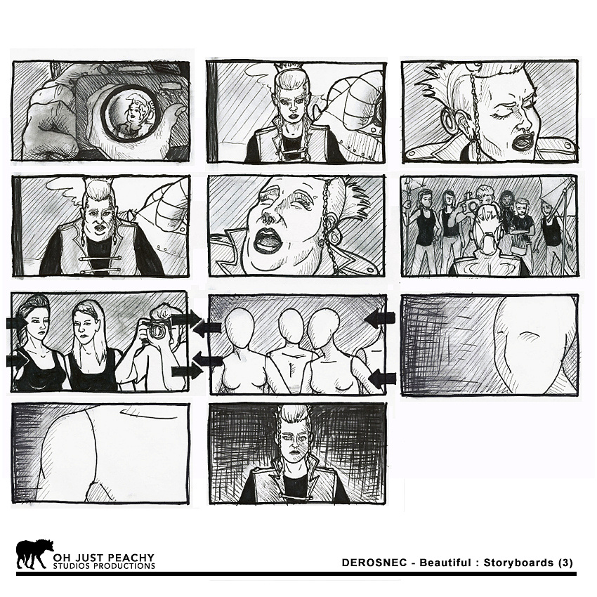 DEROSNEC - Beautiful: Storyboards (pg 3)