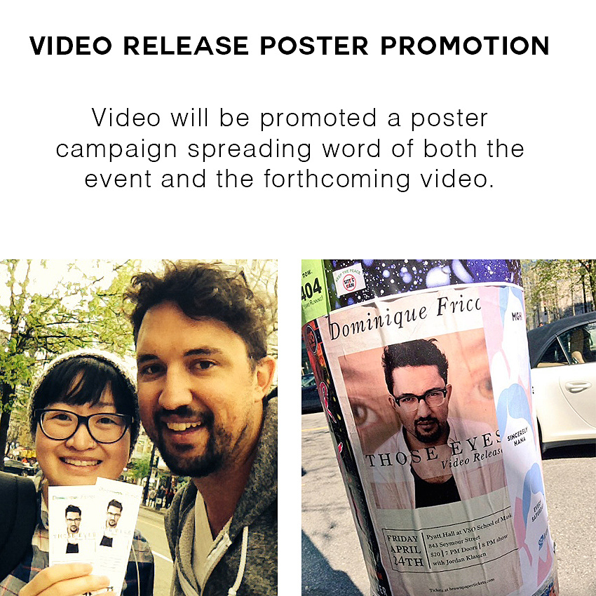Video Release Concert Poster Campaign