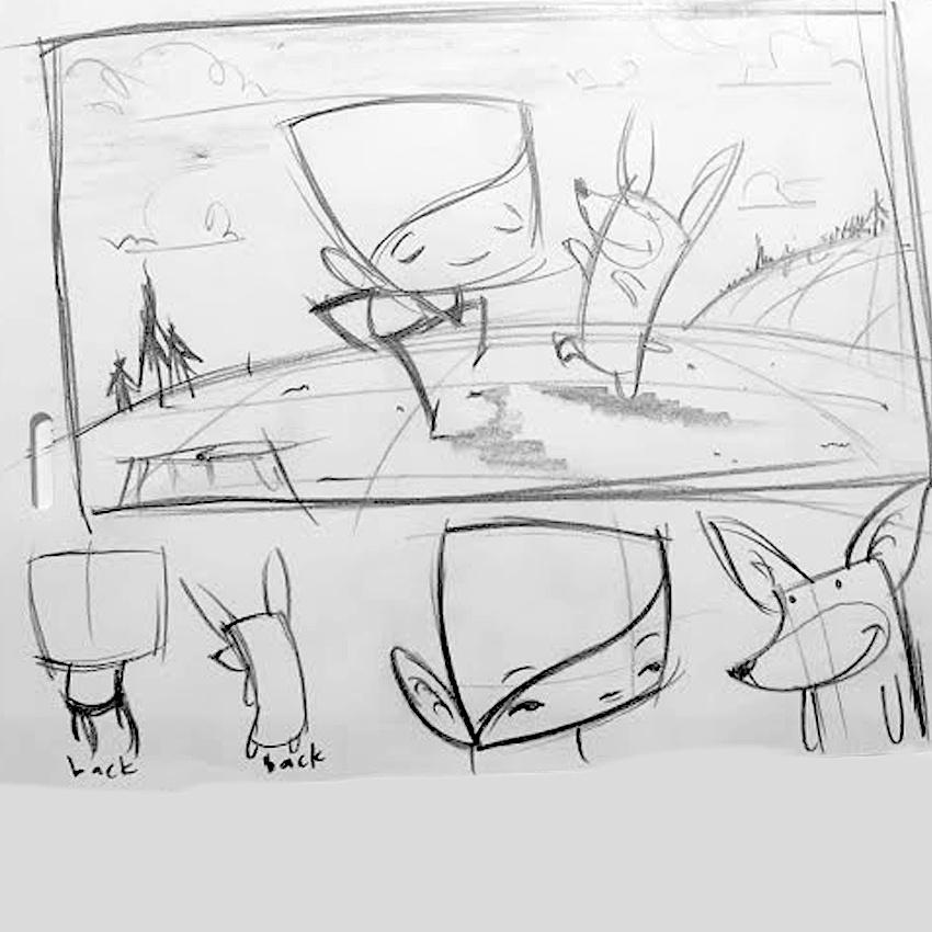 Carlo storyboard/thumbnail sample 1