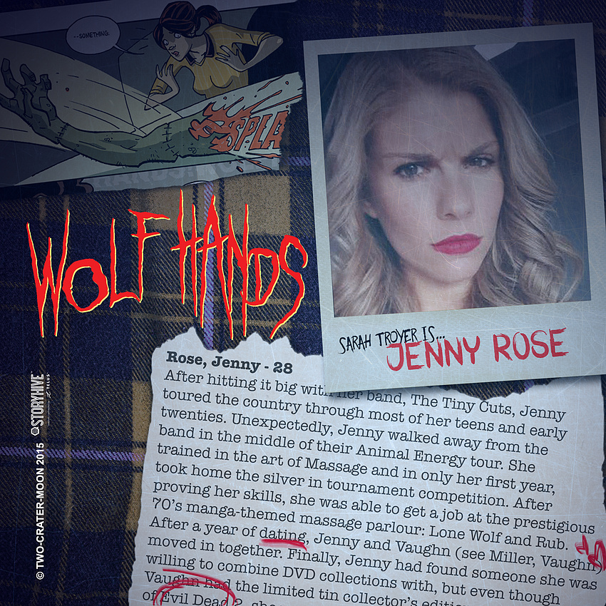 Sarah Troyer is... JENNY ROSE!