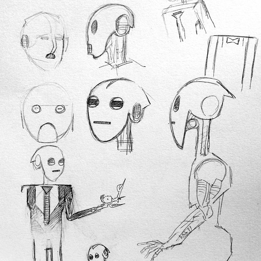 Robot Bryan doodles