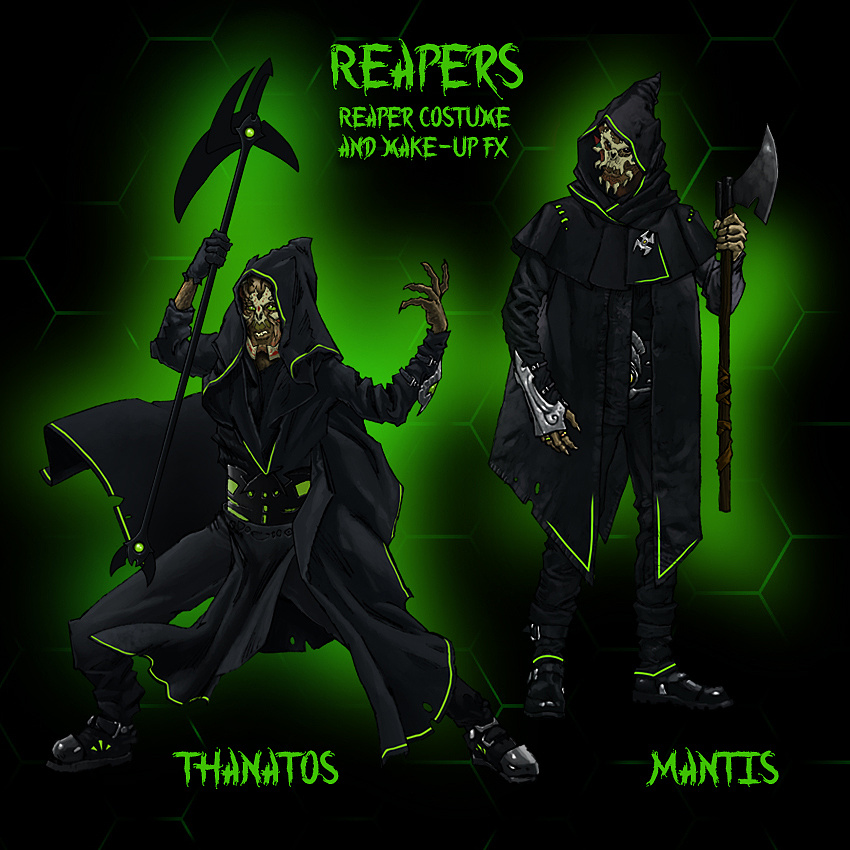 Reaper Weapons & Costume Design