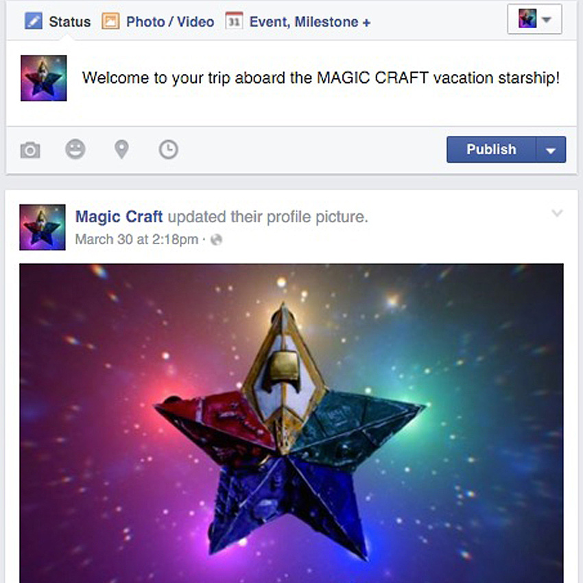 Magic Craft Facebook Page