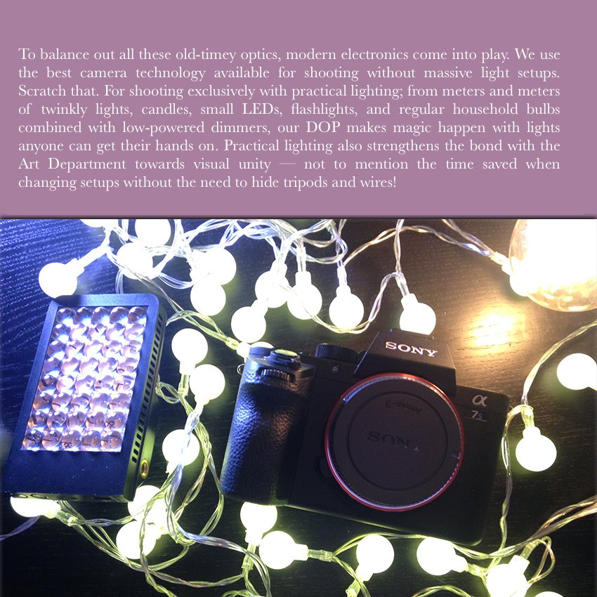 Low lighting, Practical Lighting
