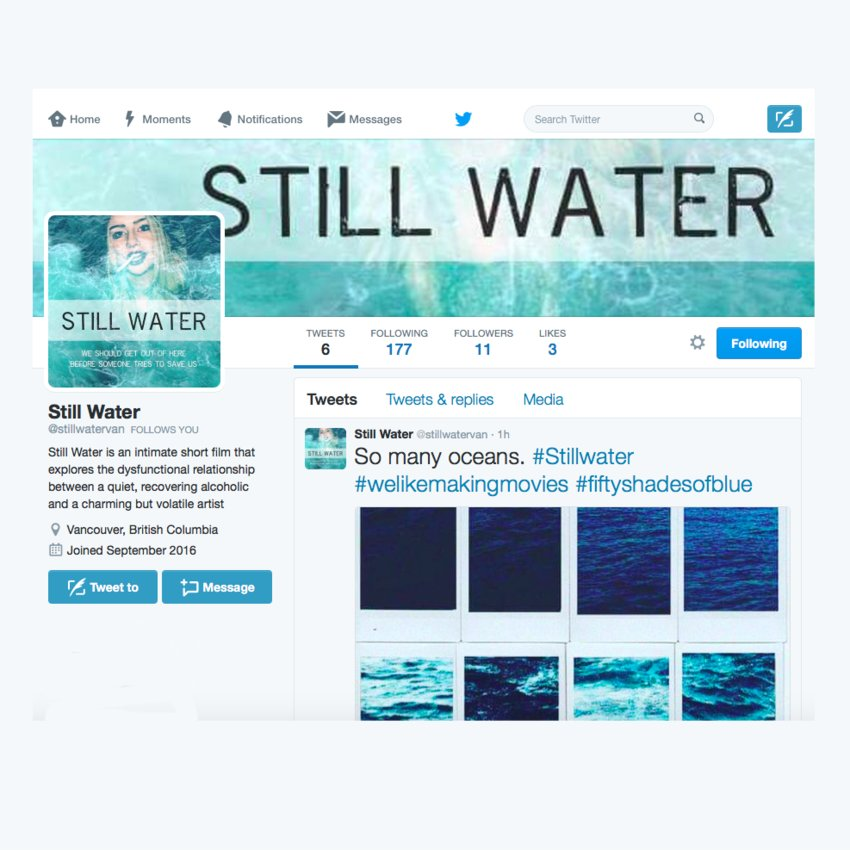 Still Water on Twitter
