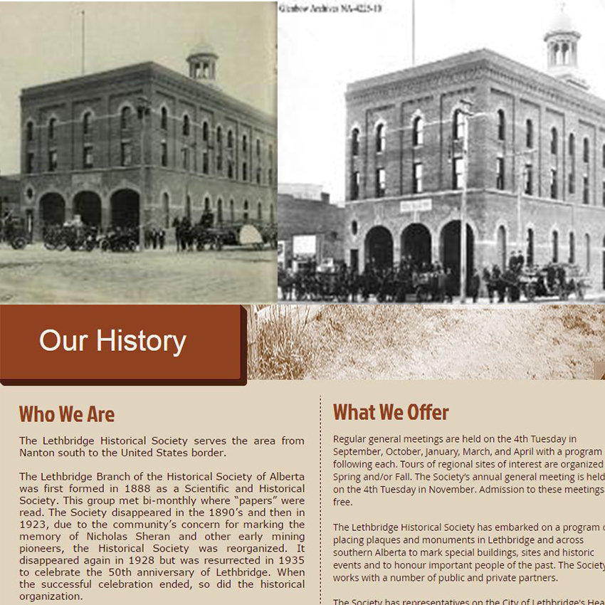The Lethbridge Historical Society