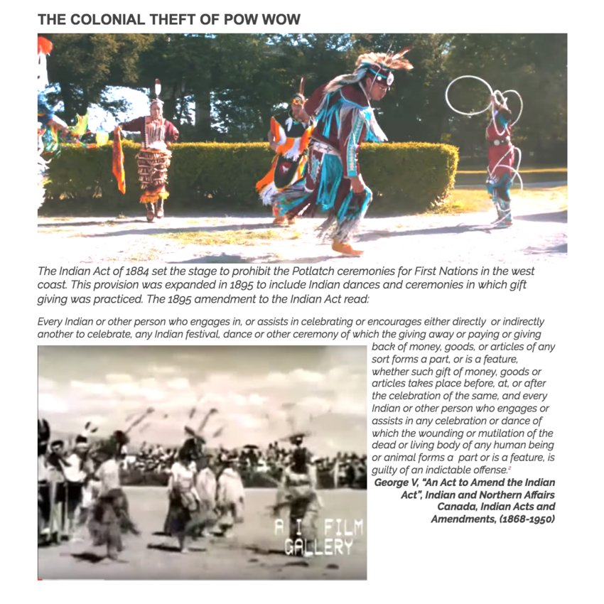 THE COLONIAL THEFT OF POW WOW
