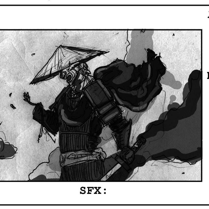 The demon motions Noble Ronin forward.